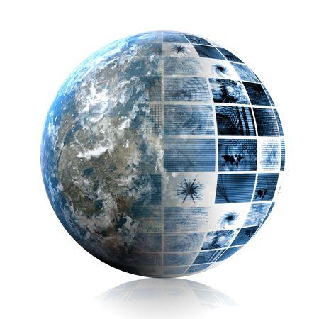 Blue Futuristic Technology Data as Art Abstract Stock Photo - 5603209