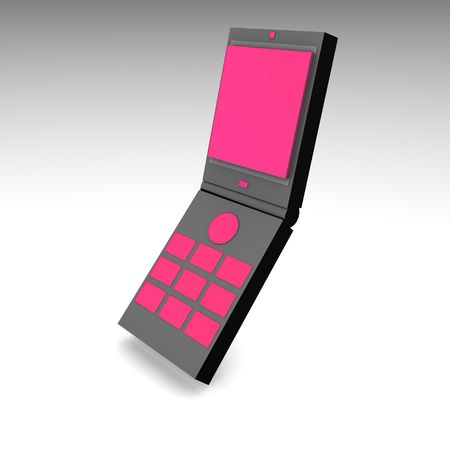 cel: Mobile Phone in 3d and Black Pink