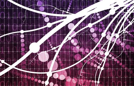 energy grid: Purple Technology Abstract as a Data Energy Grid