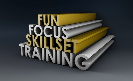 upgrading: Training Course Focus on Skillset in 3d Stock Photo