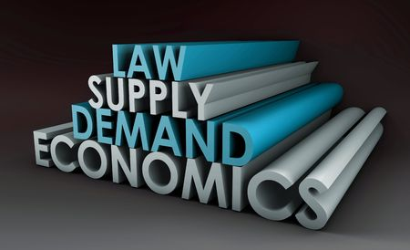 Economics Law of Supply and Demand Background Stock Photo - 5603204