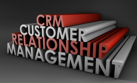 Customer Relationship Management CRM in 3d Art Stock Photo - 5604272