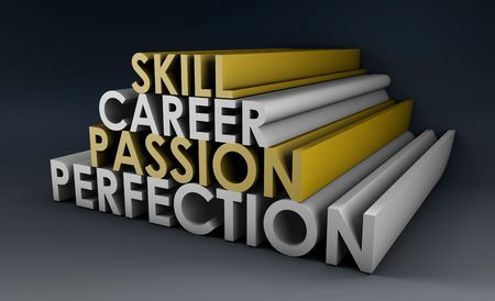Business Skills For Passion and Career in 3d Stock Photo - 5604279