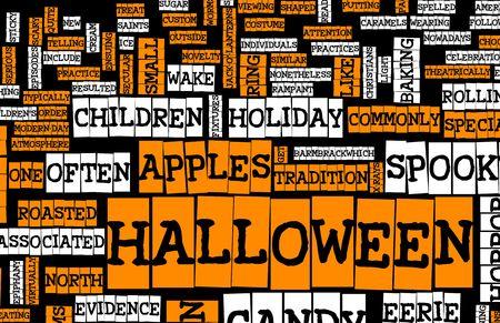 Halloween Art Background Black Orange and White Stock Photo - 5612164
