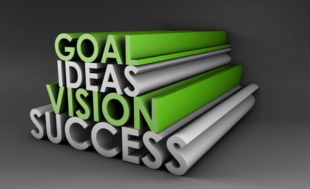 Vision Success From Goal and Idea in 3d Stock Photo - 5627261
