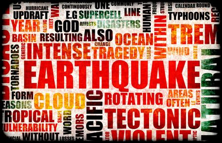 act of god: Earthquake Natural Disaster as a Art Background Stock Photo