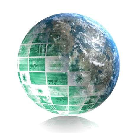 penetration: Global World Business Abstract as a Background