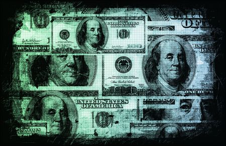 us currency: US Dollar Abstract Currency Notes as Background