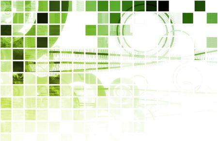 gradual: Verde Techno Org�nica de fondo como de Arte Digital Foto de archivo