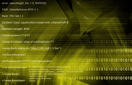 PHP HTML Website as Data Backend Technology Stock Photo - 5634423