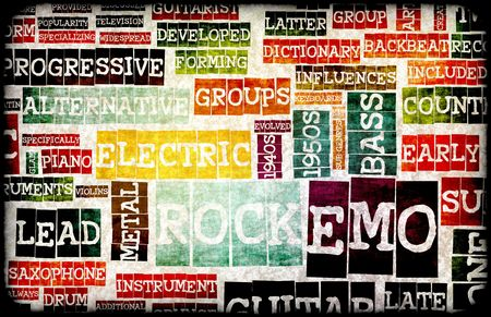 Emo Rock Music Poster Art as Background Stock Photo - 5634419