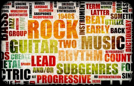 Rock Concert Event Poster Board as Background Stock Photo - 5634435