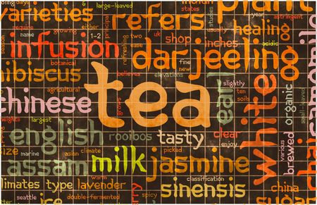 rooibos tea: Assorted Teas Menu as a Food Drink Background