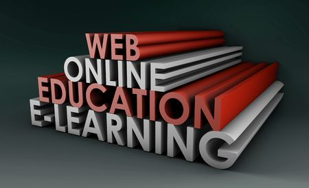 online education: Online Education or Distance Learning in 3d
