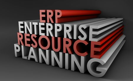 Enterprise Resource Planning ERP 3d Concept Art Stock Photo - 5660875