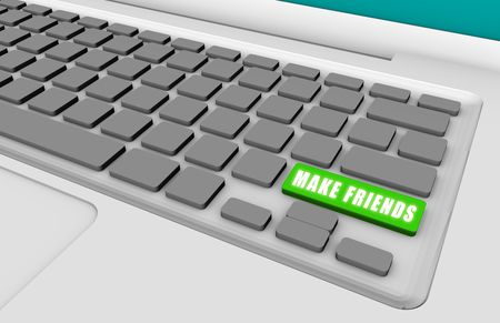 Make Friends with a Green Keyboard Button photo
