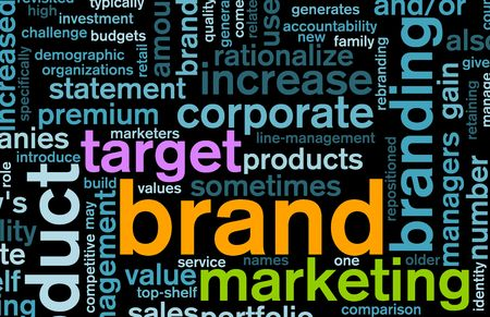 superior: Branding of Market Product Word Cloud Background
