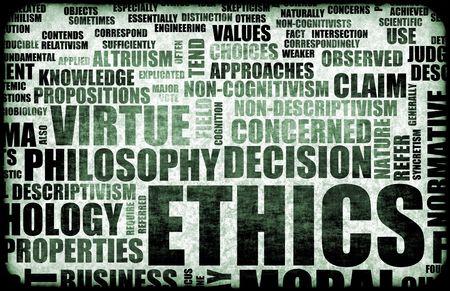 ethic: Etica Concept Idea come un background illustration