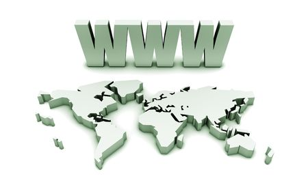 web address: WWW World Wide Web Internet Online in 3d Stock Photo