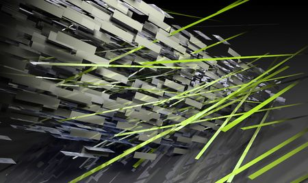 3d art: L�neas de fondo futurista en 3D Art Form Foto de archivo