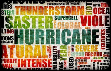 catastrophe: L'ouragan catastrophes naturelles comme fond d'Art Banque d'images