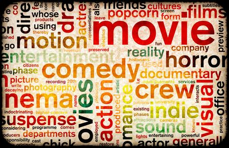 Movie Poster of Film Genres Vintage Background Stock Photo - 5670167