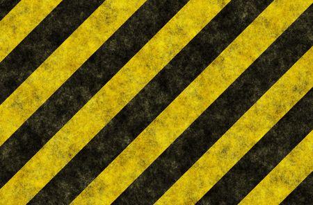 Black Yellow Hazard Stripes as Grunge Background Stock Photo - 5677283