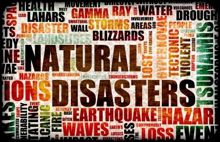 catastrophe: Grunge catastrophes naturelles comme fond d'Art