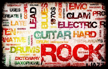 Rock Music Party Invitation as Poster Art Stock Photo - 5677297