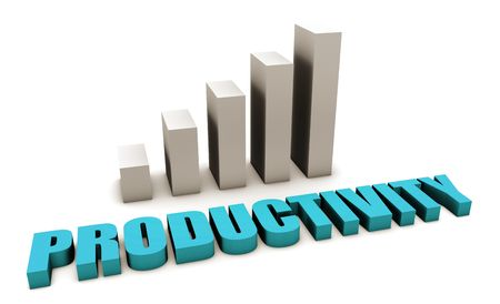 productivity system: Blue Productivity in the Work Place in 3d