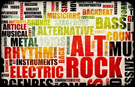 Alt Rock Music Poster Art as Background photo