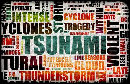 tsunamis: Tsunami Natural Disaster as a Art Background