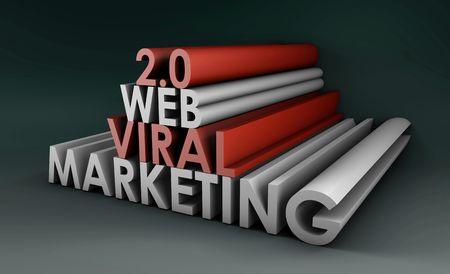 Web 2.0 Viral Marketing Method Online in 3d photo