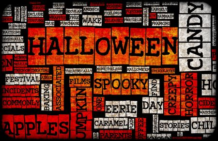 Halloween Art Background Black Orange and White Stock Photo - 5711982