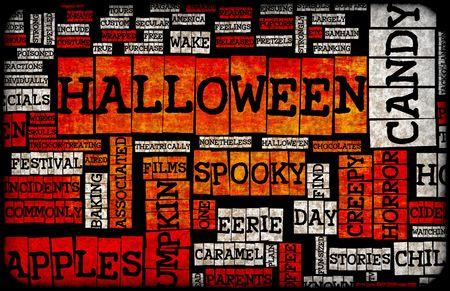 Halloween Art Background Black Orange and White Stock Photo - 5711982