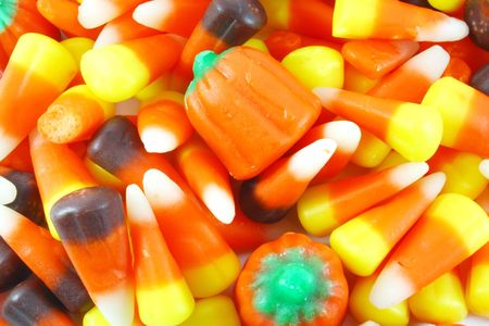 Various Mixed Candy Pile on Whole Background photo