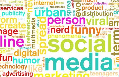 Social Media Concept as a Abstract Background Stock Photo - 5711993