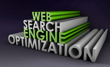 optimized: Search Engine Optimization SEO Site Ranking in 3d Stock Photo