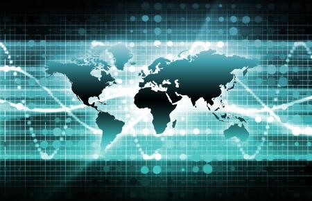 Blue International Nouvelles Mise à jour avec Globe Carte