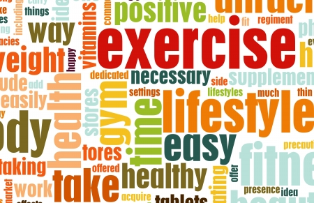 Exercise Fitness Lifestyle as a Background Art Stock Photo - 5716275