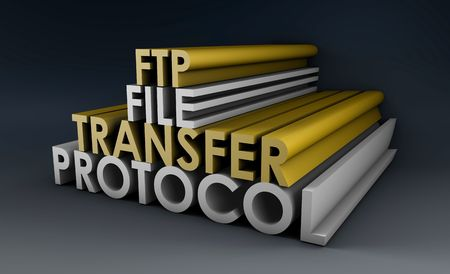 FTP or File Transfer Protocol For the Internet Stock Photo - 5716293