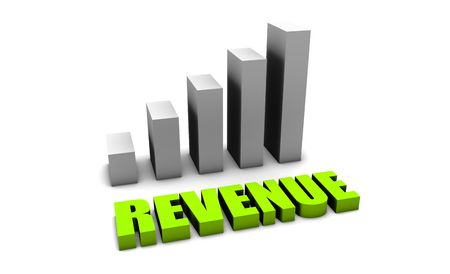 increasing: Green Revenue of a Company Profits in 3d