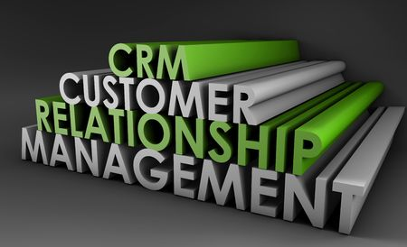 relationship strategy: Customer Relationship Management CRM in 3d Art