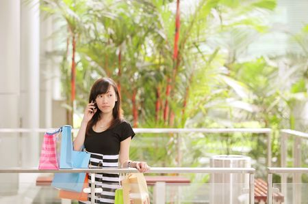 branded: Lady Airport Shopping on Holiday in Her Travels