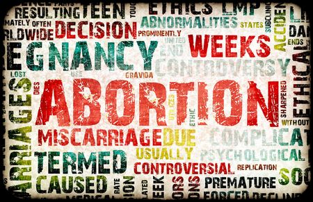 Abortion of Pregnancy Danger Background as a Art photo