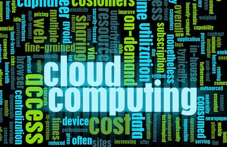 Cloud Computing Technology Concept as a Abstract photo