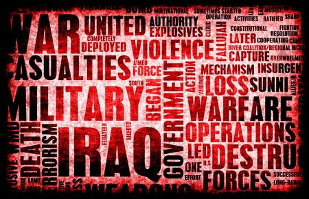 a memorial to fallen soldiers: Iraq War as a Grunge Abstract Background