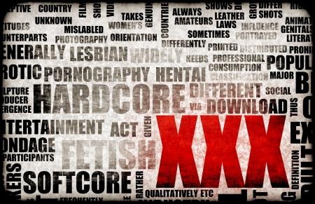 Industria del Sexo Porno XXX Concepto Grunge Background Foto de archivo - 5735800