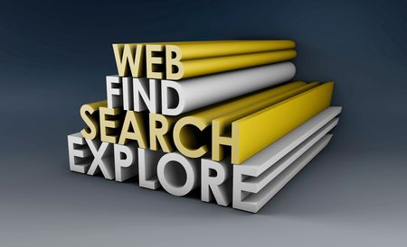 Searching the Web in 3d Concept Sign Stock Photo - 5735798