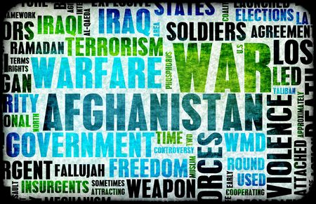 afghan: Afghanistan War as a Grunge Abstract Background
